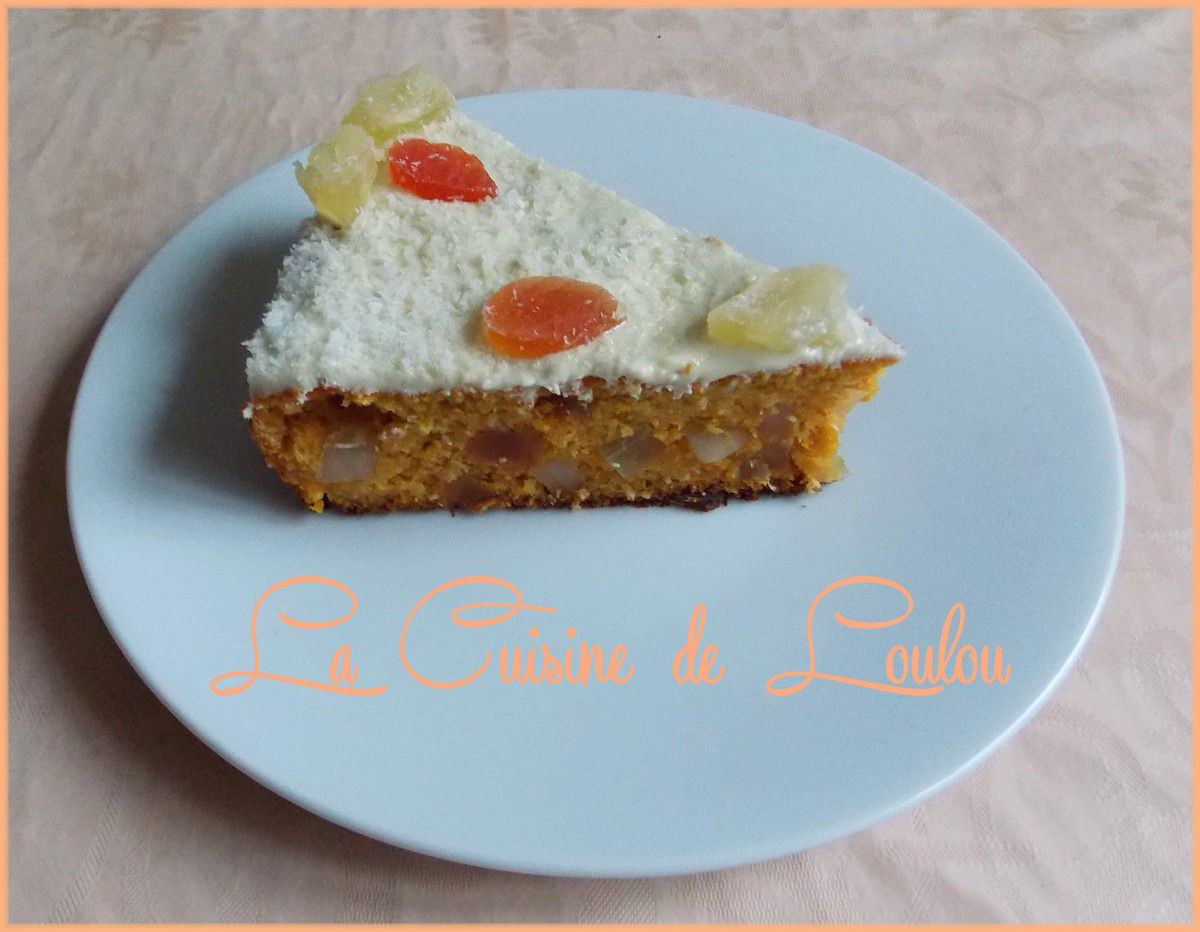 Carrot cake aux fruits exotiques