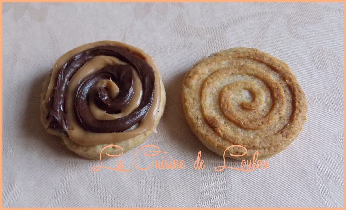 Swirls pain d'épices fourrés choco-caramel