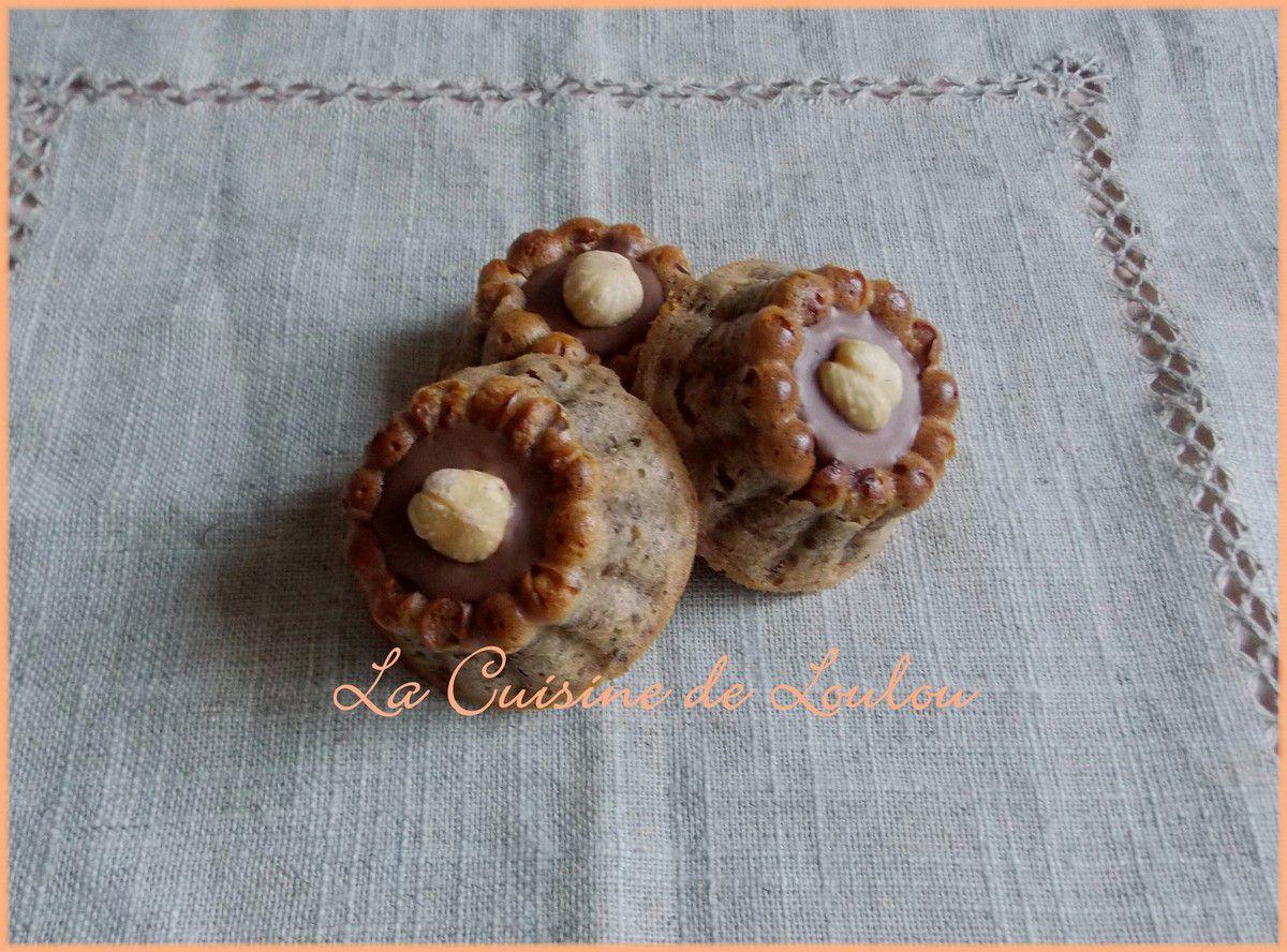 Petits cakes chocolat-noisettes
