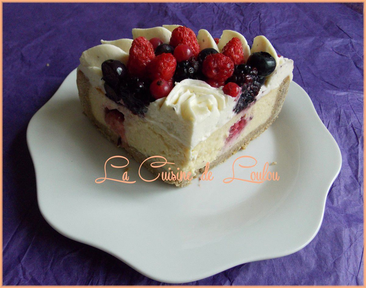 Cheesecake amandes et fruits rouges