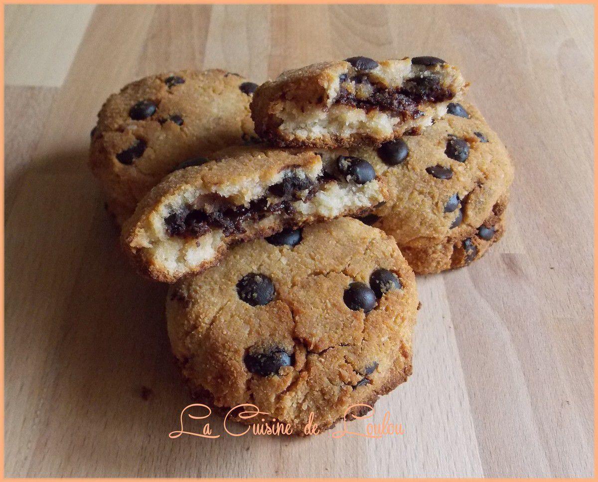 Cookies coco-citron fourrés choco-noisettes