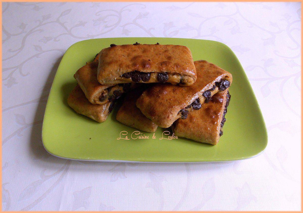 Brioches suisse au beurre de cacahuètes et pépites de chocolat