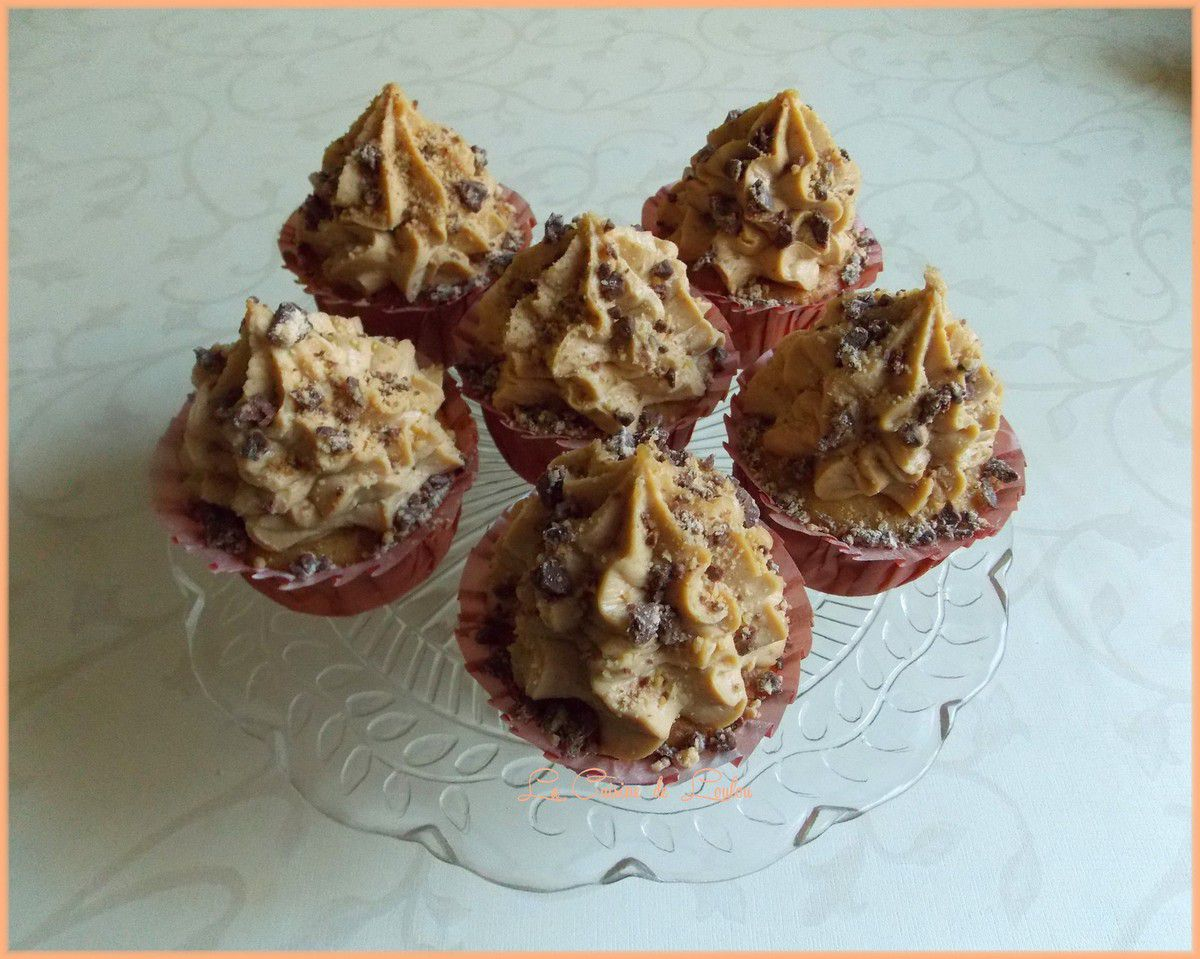 Cupcakes aux peanuts butter cups