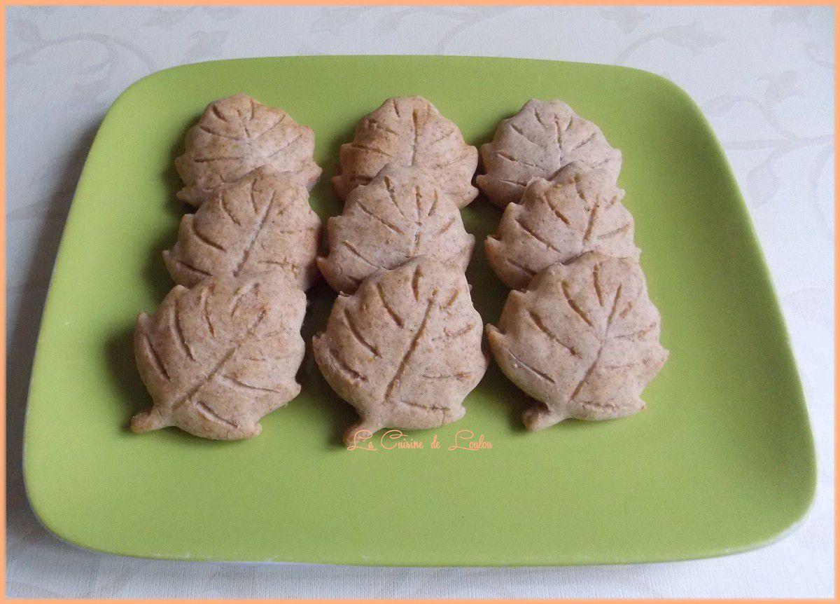 Feuilles fourrées amandes-myrtilles