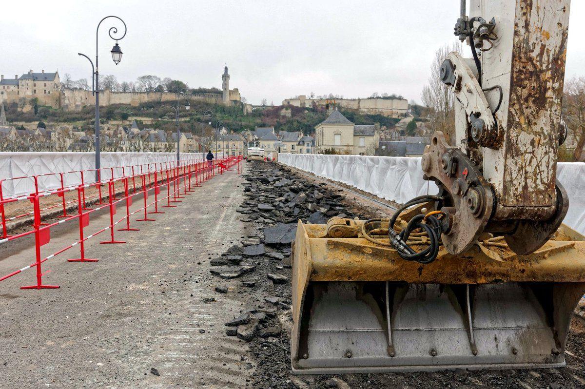 Rénovation pont de Chinon, réseaux côté amont