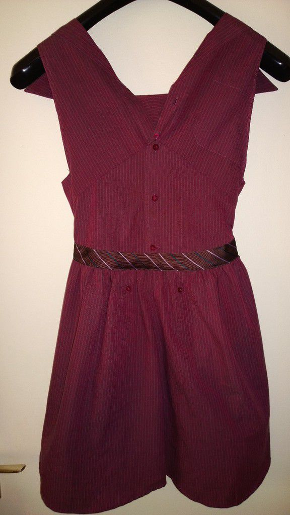 Recycler une chemise d'homme - Robe