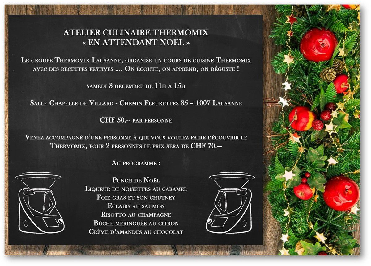 Atelier culinaire Thermomix du 3.12.2016