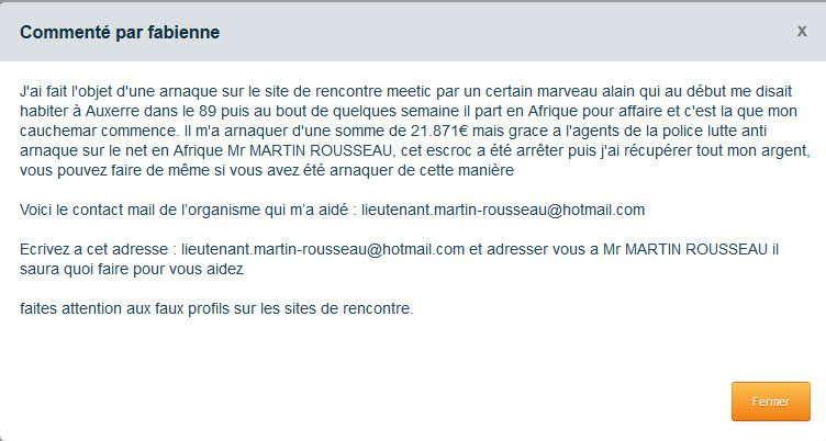 Description sur site de rencontre