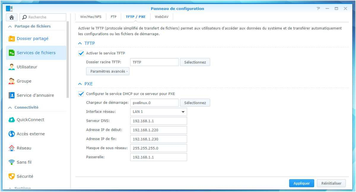 [TUTO] Serveur TFTP, PXE Ghost sur NAS Synology