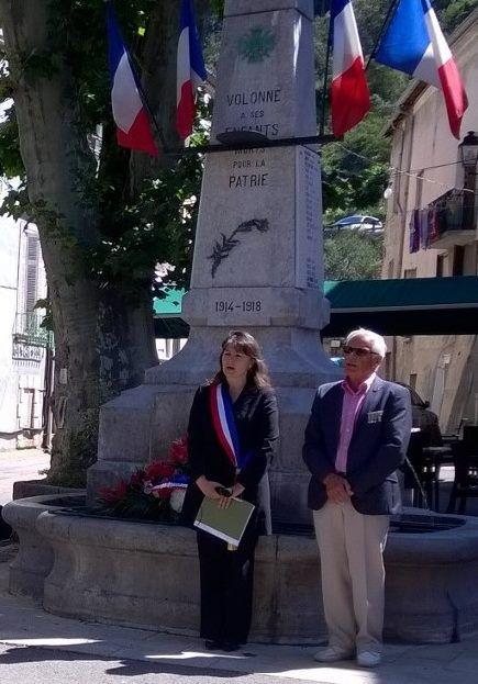 ZOOM sur VOLONNE       Commémoration à Volonne de l'appel du 18 juin 1940.