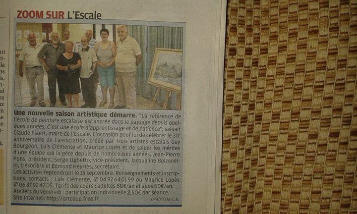 L'ESCALE/LES MEES     JOEL DENOIZE   Invité d'honneur pour parrainer l'expo annuelle