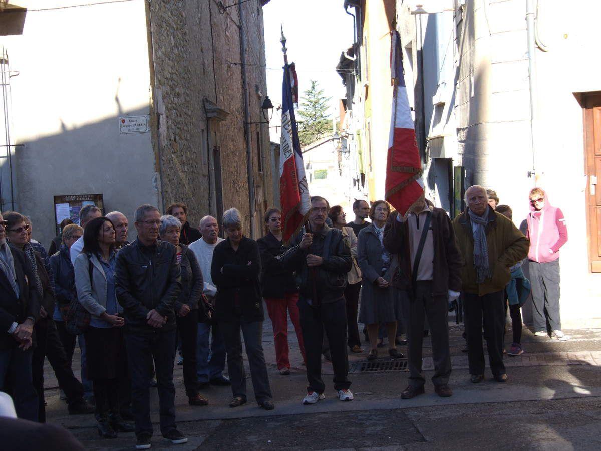 VOLONNE    Commémoration  du 97è anniversaire de l'armistice du 11 novembre 1918
