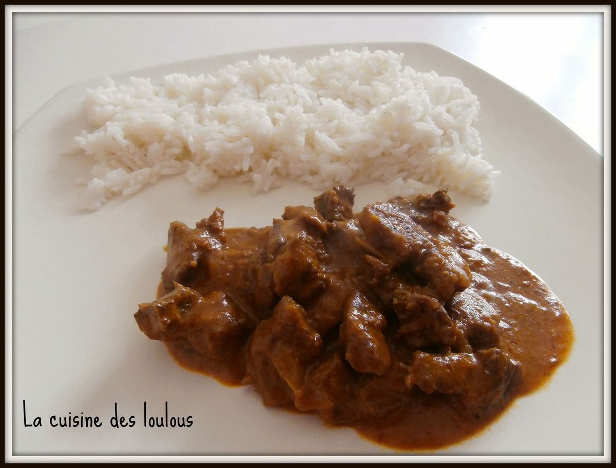 Curry de boeuf Rendang