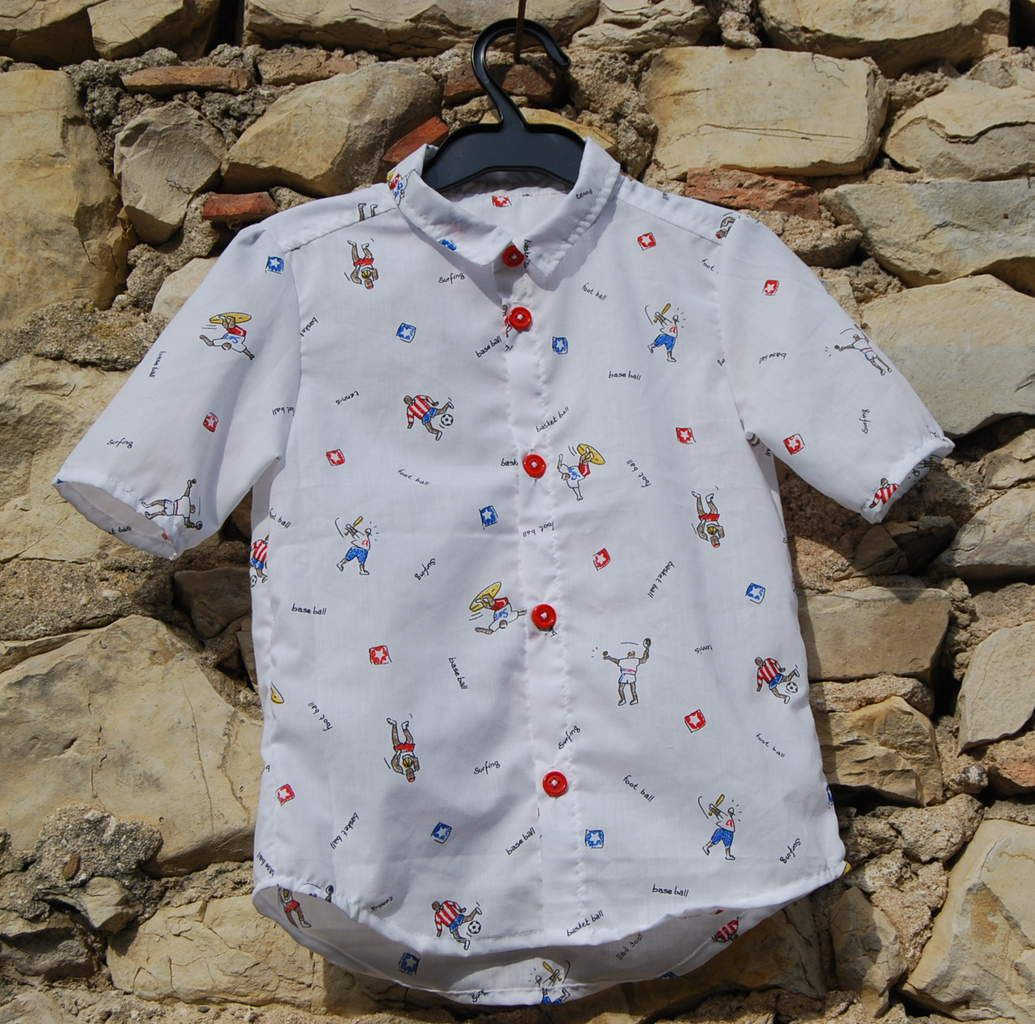 Chemise cousue main