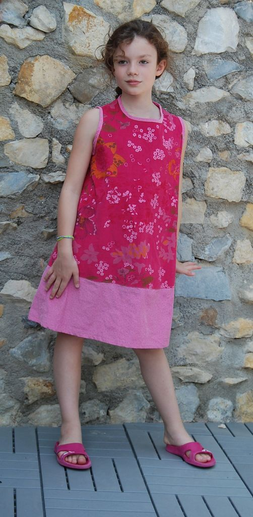 Robe chasuble deux velours