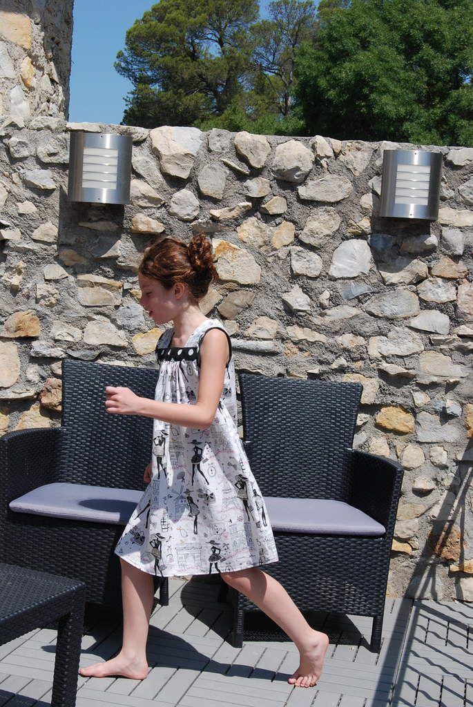 Robe Jill à Paris à la campagne