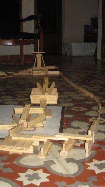 Paul et ses constructions Kapla