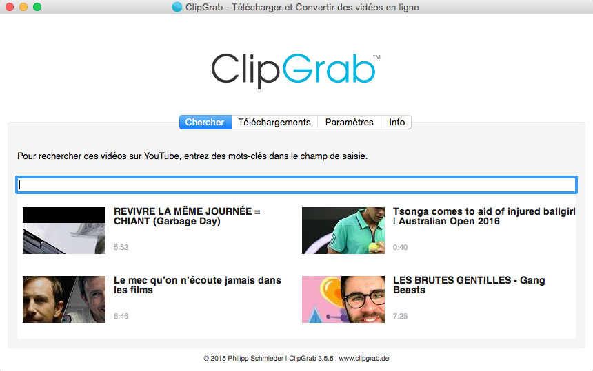 clipgrab gratuit pour pc Windows