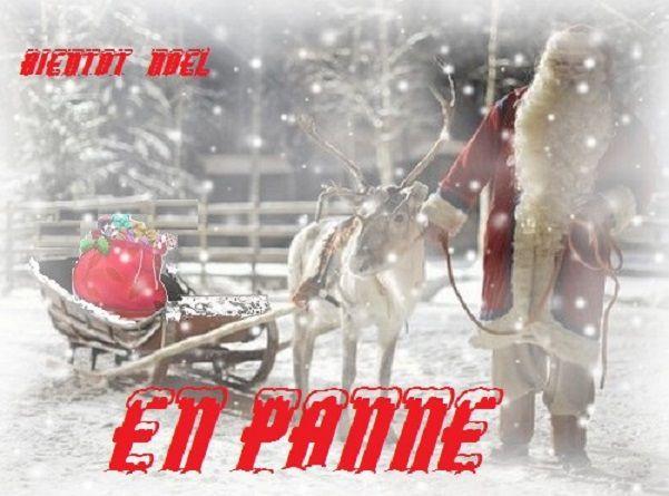 Noël approche …..Alors Sauvons le Pére Noël en panne!!
