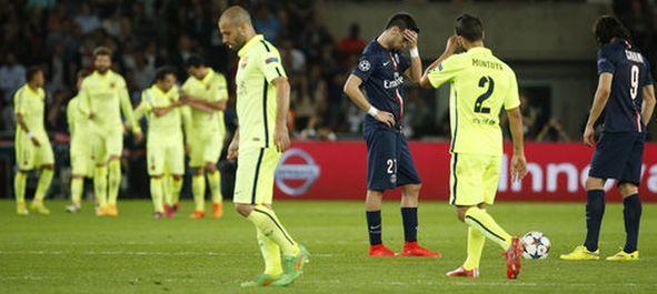 Ligue des Champions2015: Le PSG en Echec face au Barça (1-3) sur ce match aller