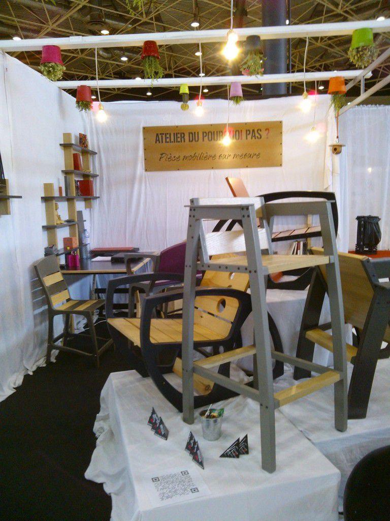 l 39 atelier du pourquoi pas au salon home 2014 atelier pourquoi pas mobilier design sur mesures. Black Bedroom Furniture Sets. Home Design Ideas