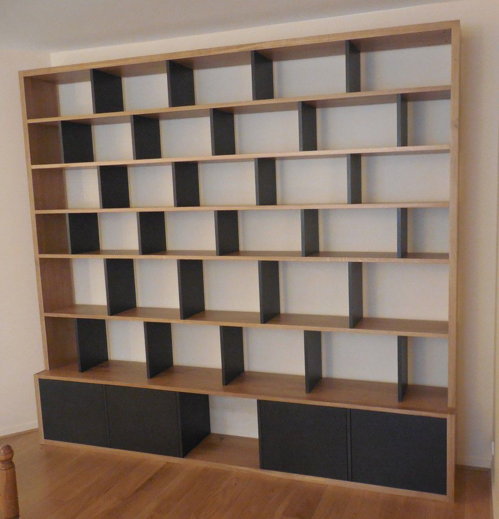 nouvelle biblioth que contemporaine brick atelier. Black Bedroom Furniture Sets. Home Design Ideas