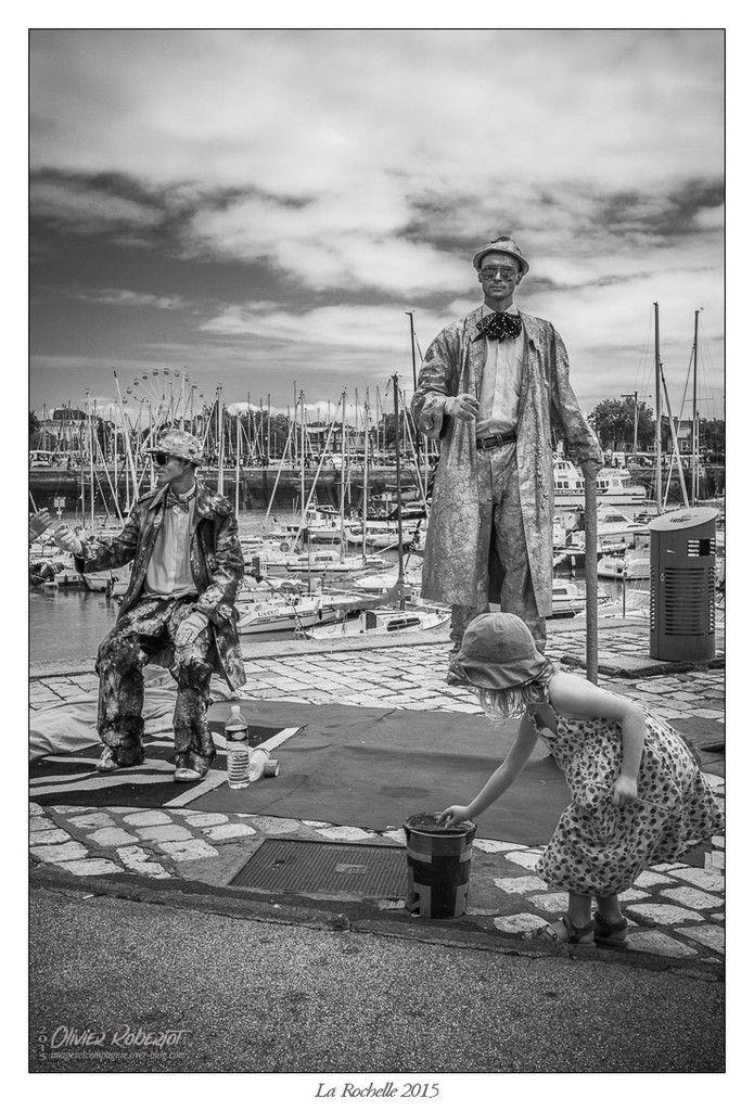 Dans les rues de La Rochelle (noir &amp&#x3B; blanc)...