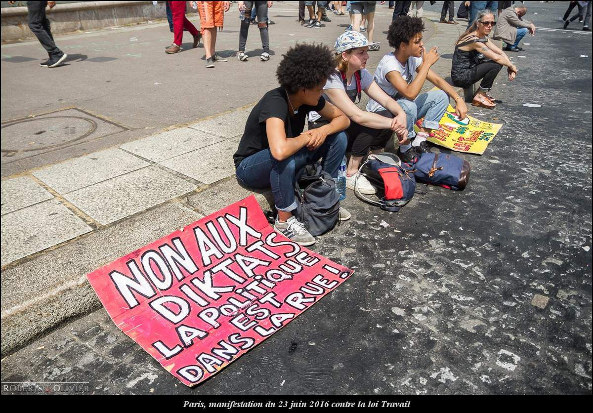 Paris, manifestation du 23 juin 2016 contre la loi Travail