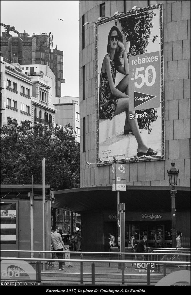 Espagne 2017, place de Catalogne &amp&#x3B; Rambla