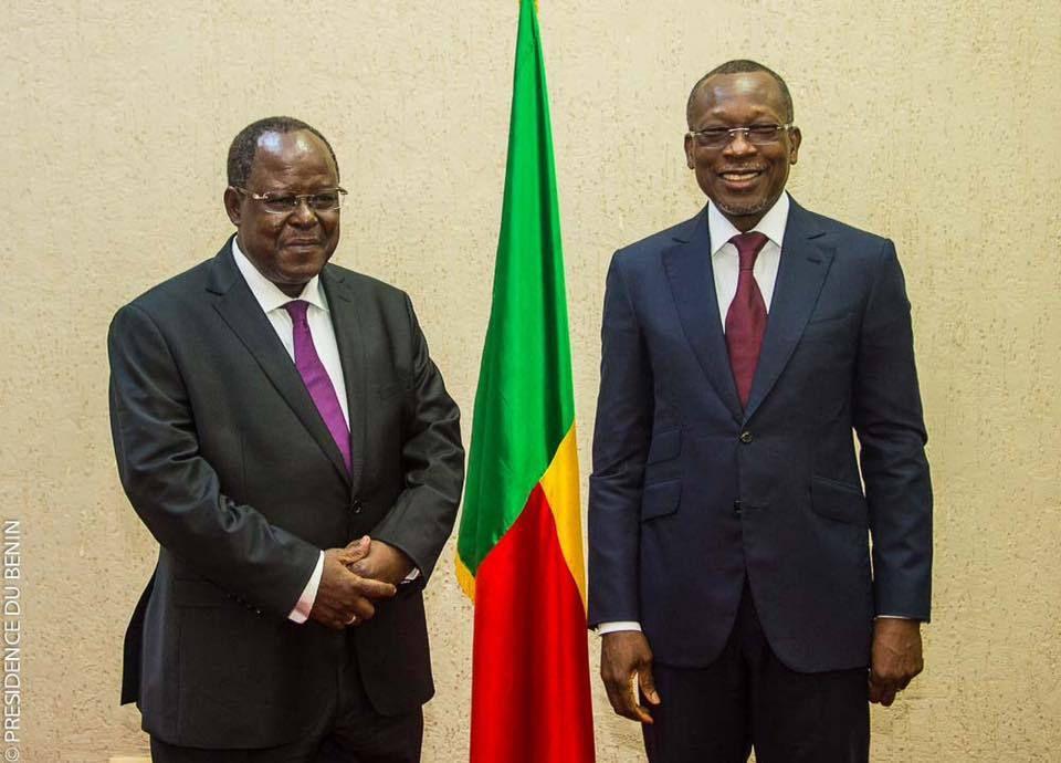 BENIN : L'Ambassadeur Benoît ILLASSA au Palais avec le Président de la République, Patrice TALON !!!
