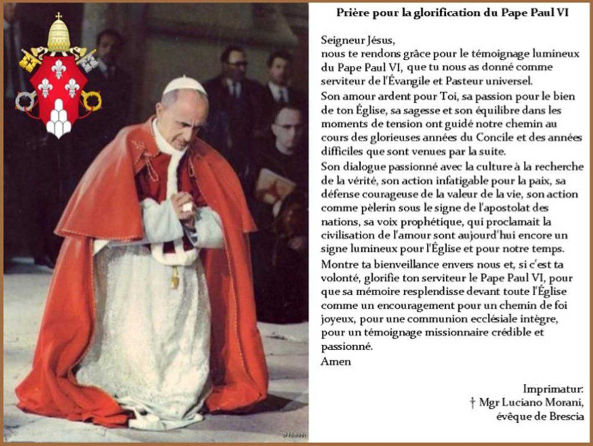 Béatification du Pape Paul VI le 19 octobre 2014