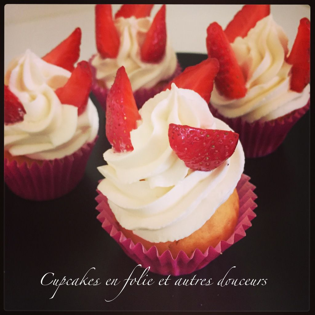 Cupcakes vanille/fraises