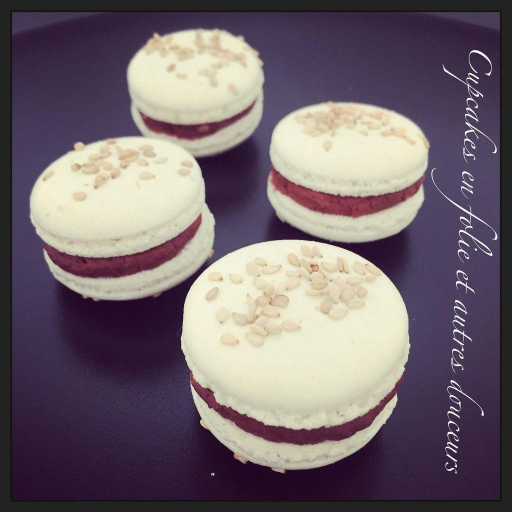 Macarons Chocolat/Sésame