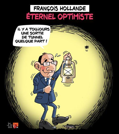 Hollande : toujours optimiste