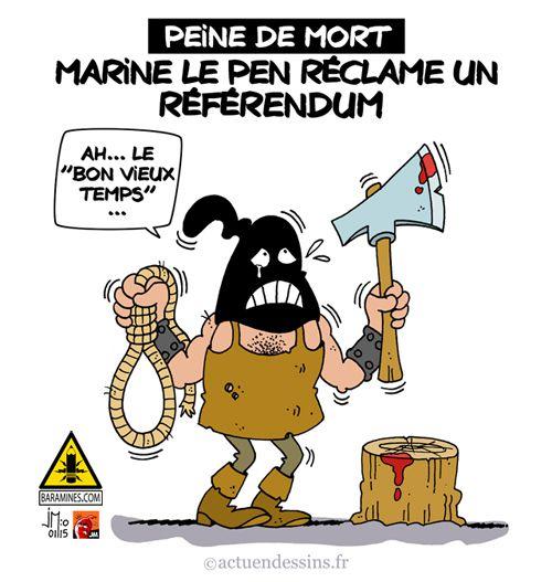 Peine de mort : Marine Le Pen veut un référendum