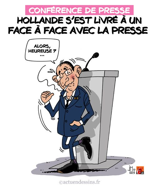 Hollande face à la presse