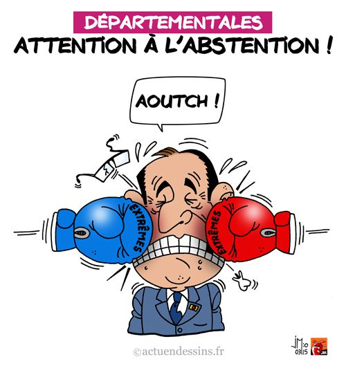 Départementales 2015 : attention à l'abstention !