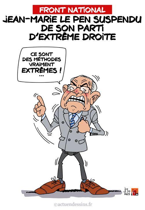 FN : Jean-Marie Le Pen suspendu
