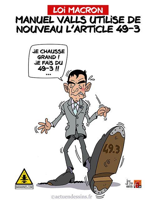 Loi Macron : Valls dégaine le 49-3