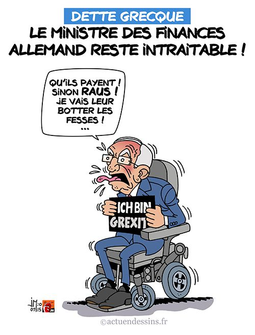 Le ministre des Finances allemand favorable au Grexit