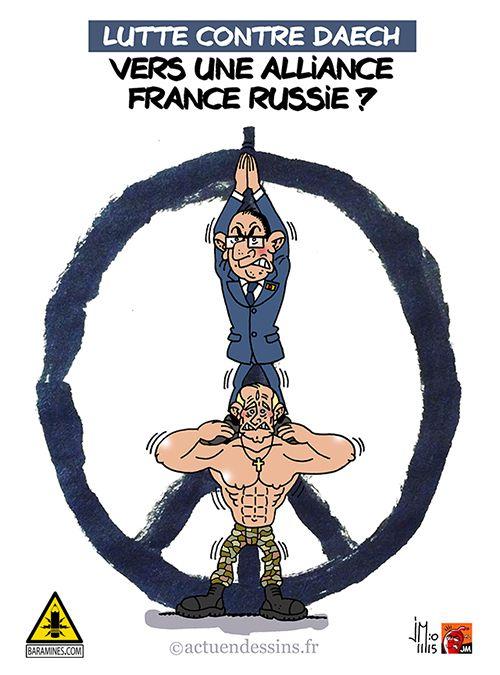 Syrie : alliance France Russie contre Daech ?