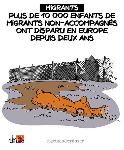 10 000 enfants migrants ont disparu en Europe !