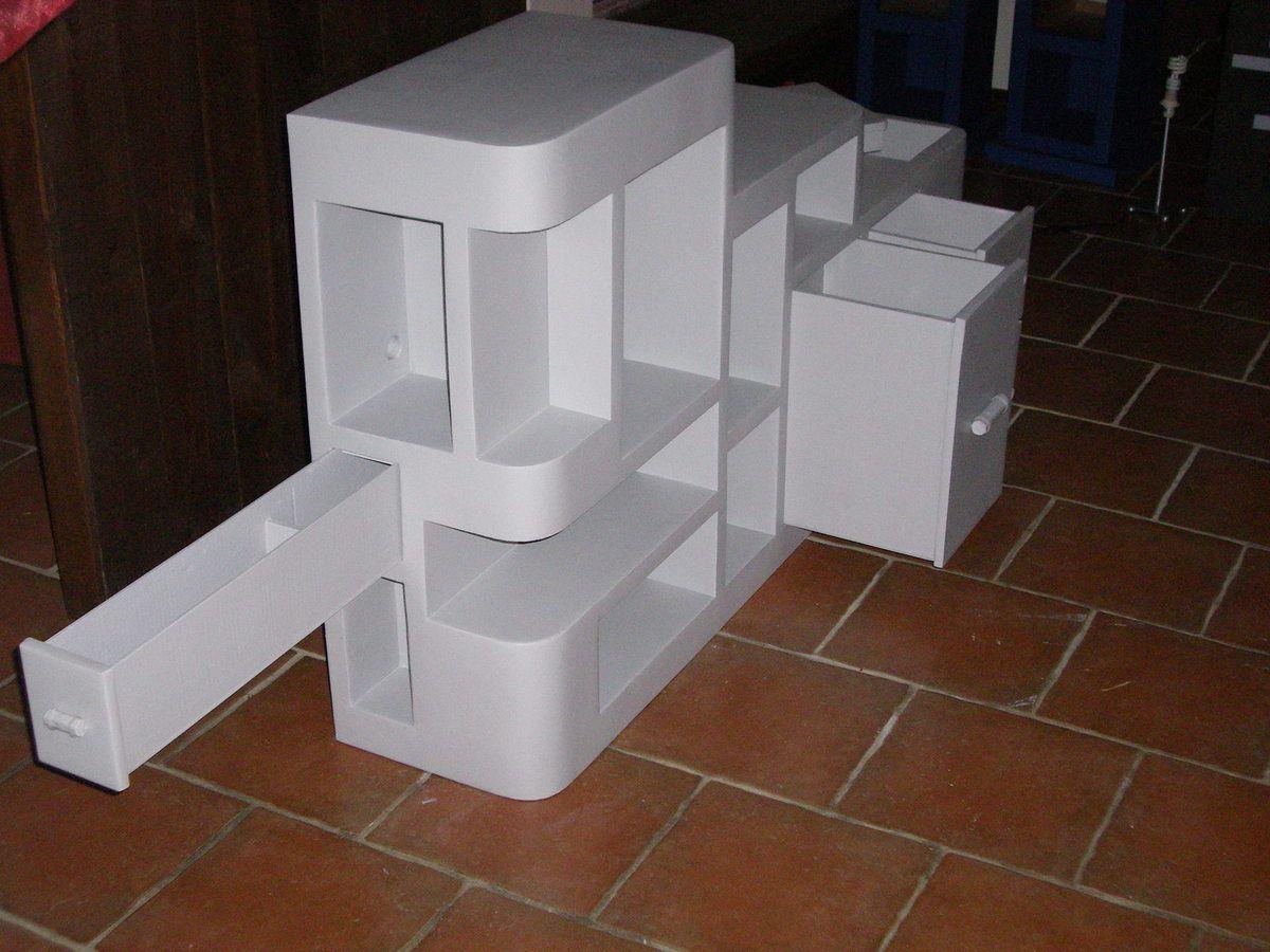 Des tiroirs en carton recyclé de profondeur et grandeur différentes