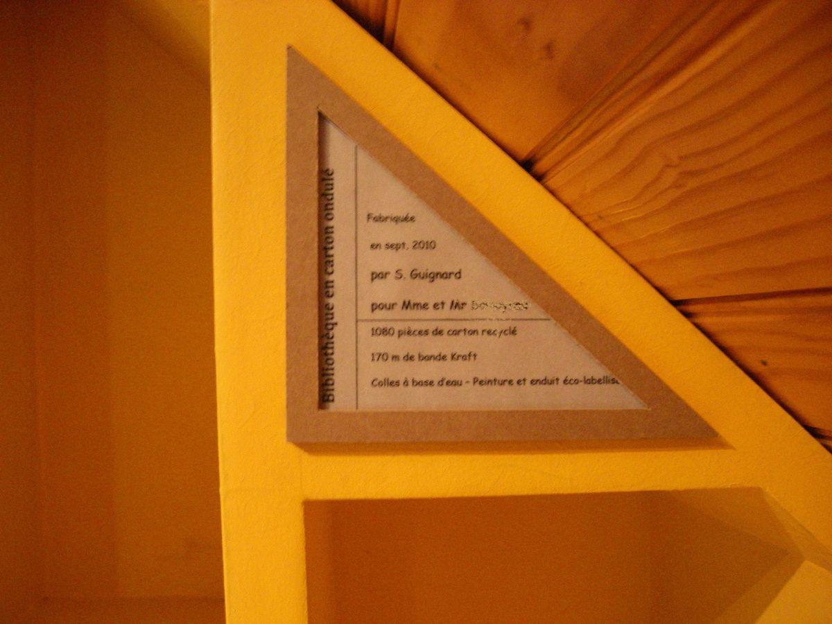 Etiquette du meuble SG Mobilier Carton