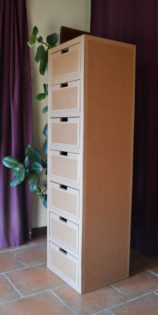 semainier en carton meubles en carton angers. Black Bedroom Furniture Sets. Home Design Ideas