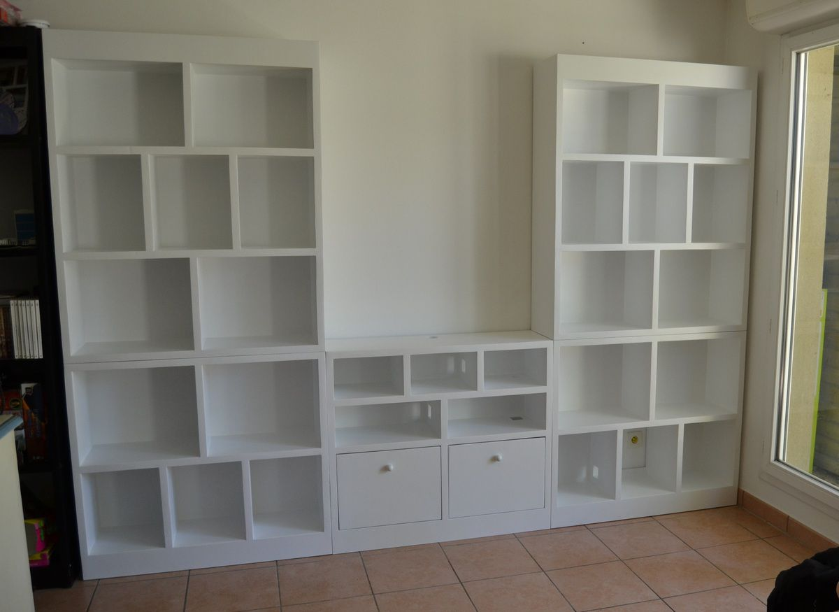 meuble tv biblioth que meubles en carton angers. Black Bedroom Furniture Sets. Home Design Ideas