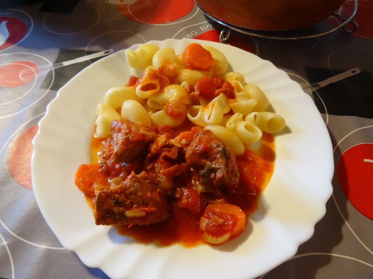 boeuf carotte et tomates au cookéo