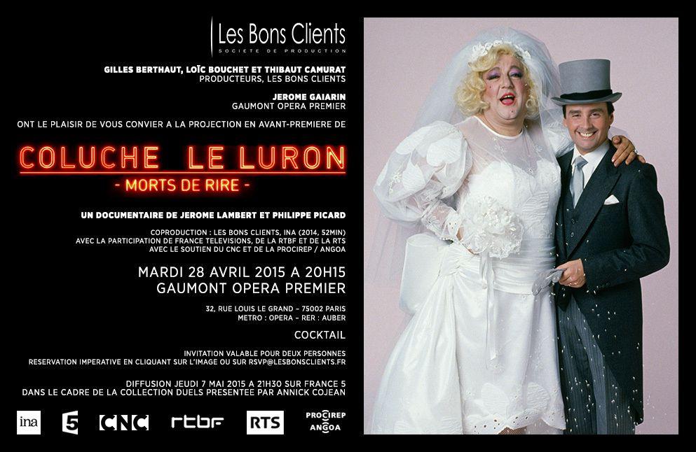COLUCHE  LE LURON &quot&#x3B;Morts de Rire&quot&#x3B;
