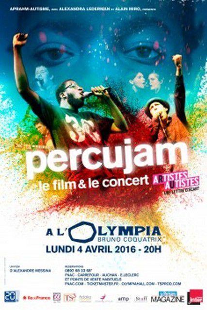 PERCUJAM à L'OLYMPIA LE 4 AVRIL 2016 à 20H00