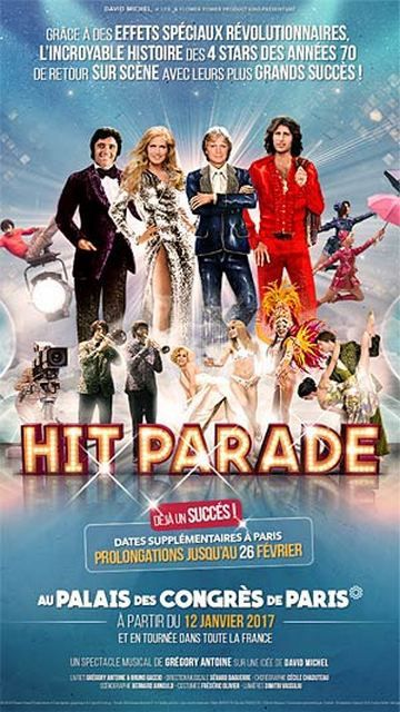HIT PARADE au PALAIS DES CONGRES de PARIS